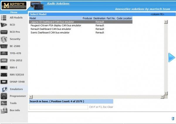 emulator do liczników od firmy martech